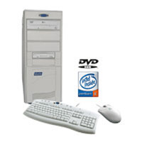 BLUECHIP Intel® Celeron® processor ERON D340 2.8GHZ 512MB 80GB DVD DOS